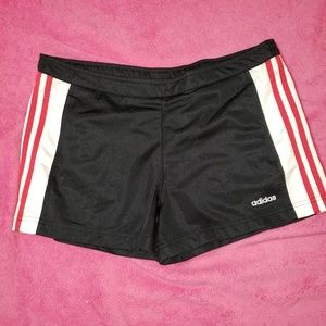 Adidas black and red sz med shorts new